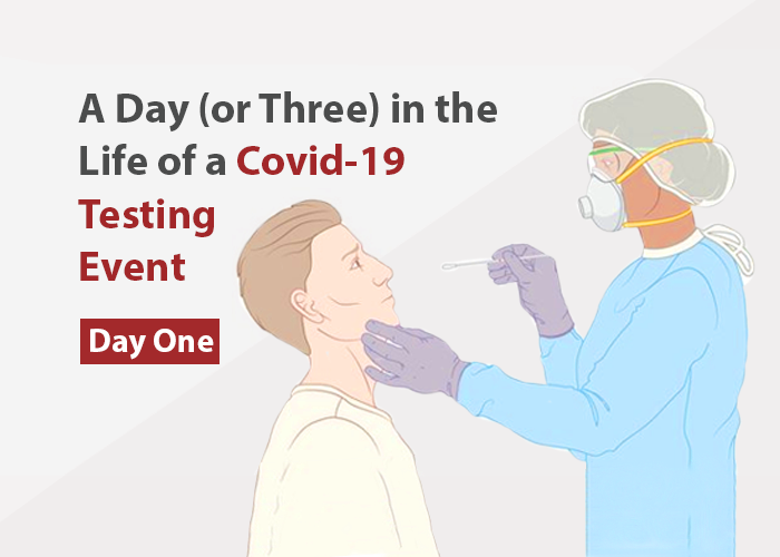 A Day (or Three) In the Life of a COVID-19 Testing Event – Day One